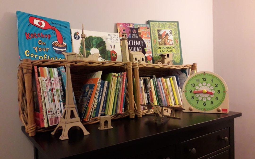 Bibliothèque de livres pour enfants en anglais pour les cours et activités